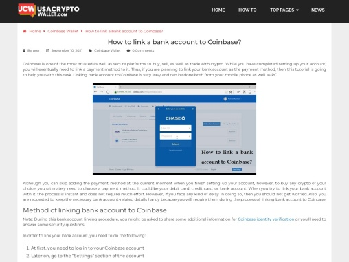 How To Link A Bank Account To Coinbase?