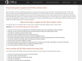 A Know-How guide to register the MS Office software online