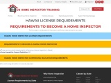 HAWAII LICENSE REQUIREMENTS – US Home Inspector Training