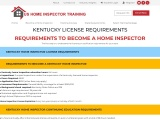 KENTUCKY LICENSE REQUIREMENTS | US Home Inspector Training