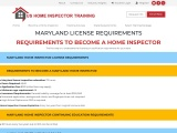 MARYLAND LICENSE REQUIREMENTS | US Home Inspector Training