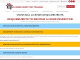MONTANA LICENSE REQUIREMENTS – US Home Inspector Training