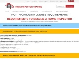NORTH CAROLINA LICENSE REQUIREMENTS – US Home Inspector Training