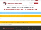 RHODE ISLAND LICENSE REQUIREMENTS | US Home Inspector Training