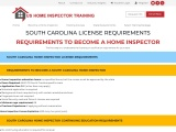 SOUTH CAROLINA LICENSE REQUIREMENTS​ – US Home Inspector Training
