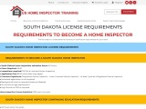SOUTH DAKOTA LICENSE REQUIREMENTS | US Home Inspector Training