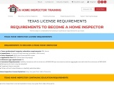 TEXAS LICENSE REQUIREMENTS – US Home Inspector Training