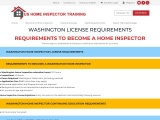 WASHINGTON LICENSE REQUIREMENTS – US Home Inspector Training