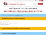 WISCONSIN LICENSE REQUIREMENTS – US Home Inspector Training