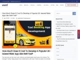 How Much Does It Cost To Develop A Popular UK-based Rider App Like Gett Taxi?