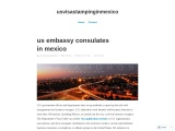 us embassy consulates in mexico