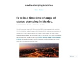 f1 to h1b first-time change of status stamping in Mexico.