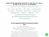 us visa application mrv fee payment in mexico