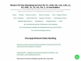 mexico visa appointment interv1iew slot booking