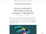 Are you looking for affordable cleaning company in Bangalore?