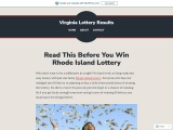 Read This Before You Win Rhode Island Lottery