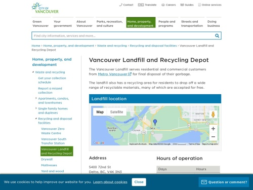 Vancouver Landfill and Recycling Depot
