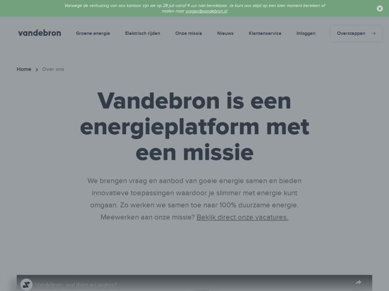 Vandebron.nl aanbiedingen