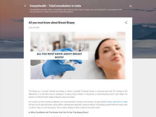 All you must know about Breast Biopsy