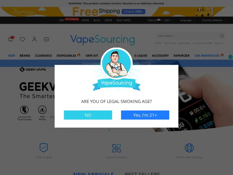 VapeSourcing screenshot
