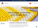 ADVANTAGES OF KNITTING WITH ACRYLIC YARN