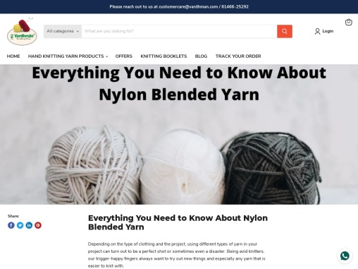 Everything You Need to Know About Nylon Blended Yarn