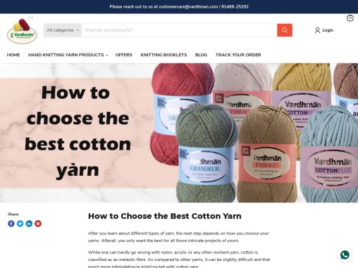 How to Choose the Best Cotton Yarn   vardhmanknitworld.com