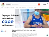 Olympic Athletes Who Knit to Cope with Stress | vardhmanknitworld.com