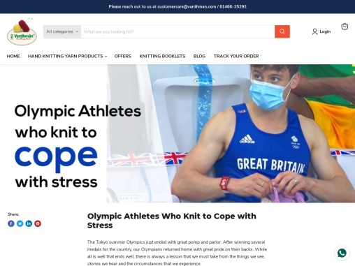 Olympic Athletes Who Knit to Cope with Stress   vardhmanknitworld.com
