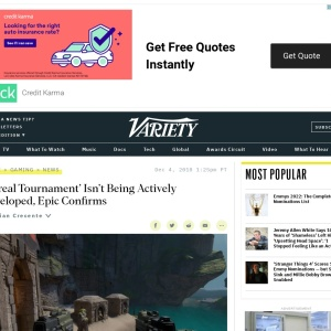 'Unreal Tournament' Isn't Being Actively Developed, Epic Confirms – Variety