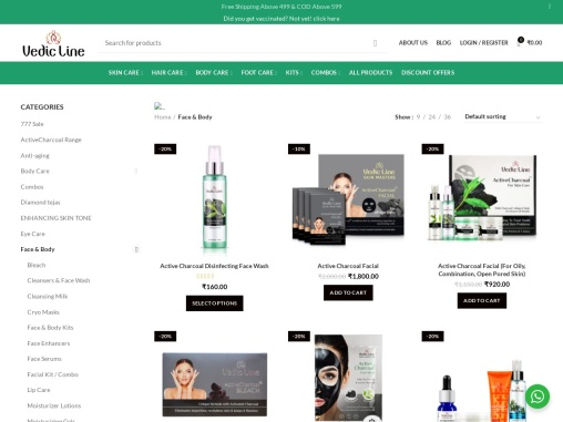Best Ayurvedic Face & Body kits Vedicline