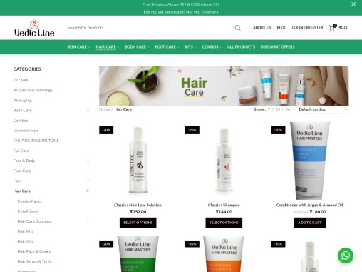 Vedicline Ayurvedic Hair Care Products