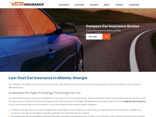 Cheap Car Insurance GA – Velox Insurance