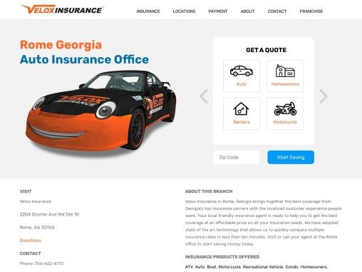 Cheap Car Insurance Rome GA – Velox Insurance