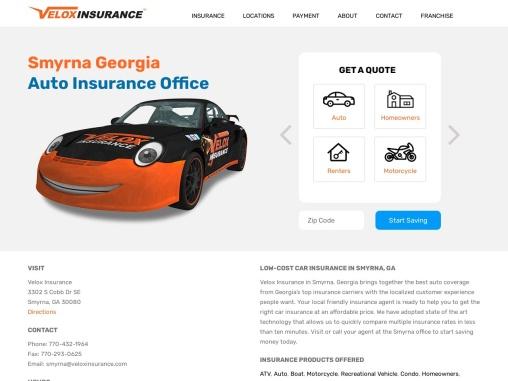 Cheap Car Insurance Smyrna GA – Velox Insurance