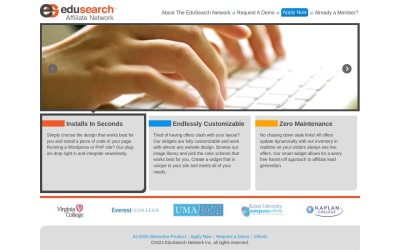 EduSearch Website Preview