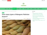 How many types of mangoes in Pakistan