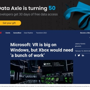 Microsoft: VR is big on Windows, but Xbox would need 'a bunch of work' | VentureBeat