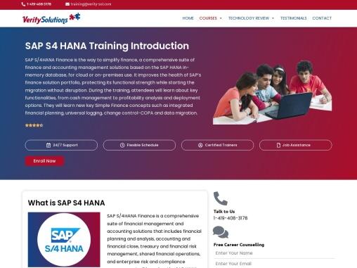 sap hana s4  online training course