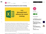 Microsoft Excel software for career training