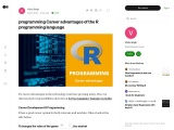 Career advantages of the R programming language