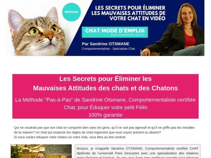 chat mode d'emploi, methode d'education en video