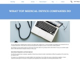 What Top Medical Device Companies Do