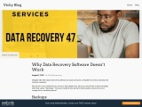 Why Data Recovery Software Doesn't Work