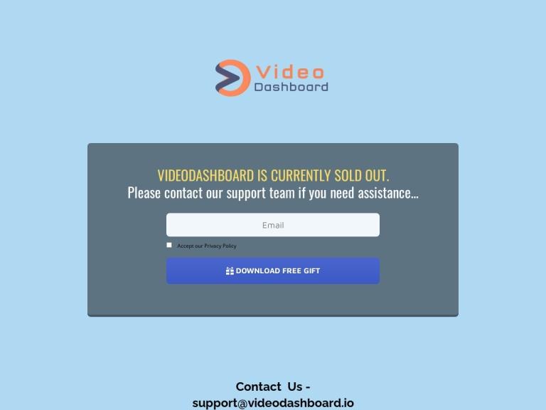 Video Dashboard Coupons and Discounts May 2021 screenshot