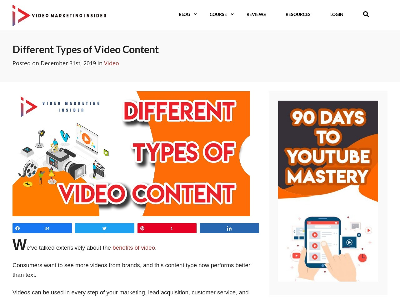 Different Types of Video Content