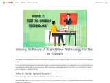 Voicely Software: A Brand New Technology for Text to Speech