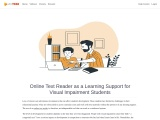 Online Text Reader as a Learning Support for Visual Impairment Students