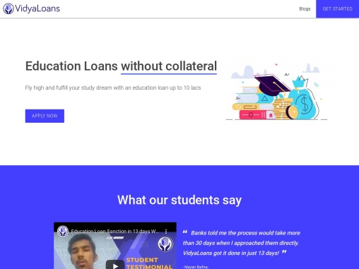 Education Loan in India Without Collateral