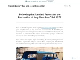Standard Process for the Restoration of Jeep Cherokee Chief 1978